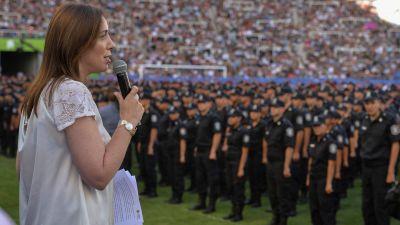Vidal anunció el pago de un bono de 2.500 pesos para policías de calle y penitenciarios