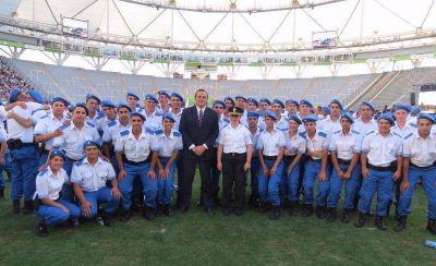 Etchevarren participó del acto de egreso de 32 nuevos policías para el distrito