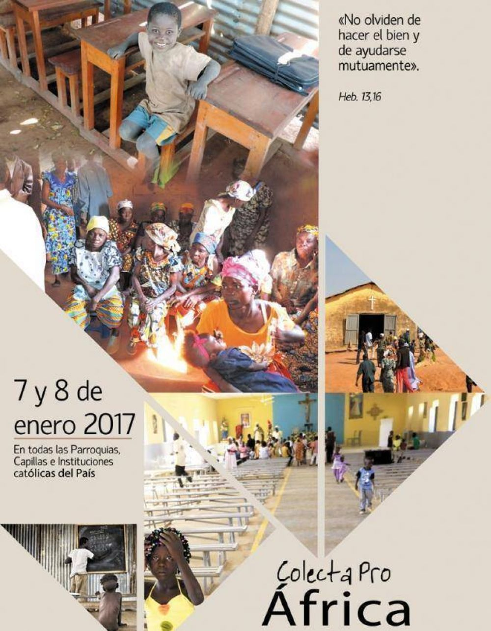 Los días 7 y 8 de enero se hará la Colecta Misionera por África