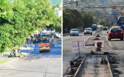 Repavimentación y ampliación de la platabanda en avenida Entre Ríos