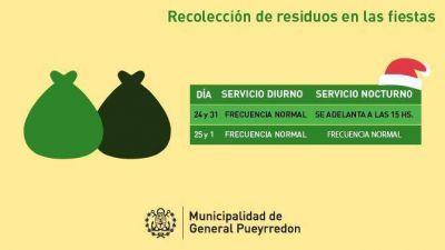 ¿Cómo será la recolección de residuos en Navidad y Año Nuevo?