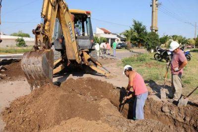 Urbanización: Se realiza una extensión de la red cloacal desde 9 de Julio y 25 de Mayo hacía Cortázar
