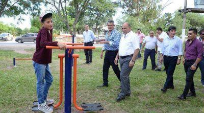 Remodelaron espacios públicos en Benjamín Aráoz