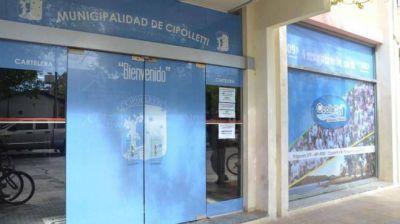 Por falta de agua potable, cerraron la Municipalidad de Cipolletti