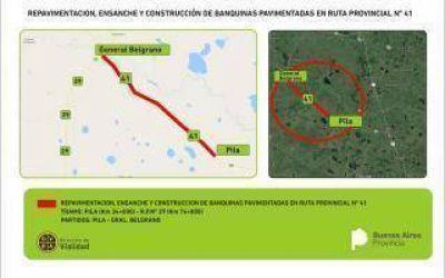 Provincia repavimentará tramos de las rutas provinciales 41 y 67