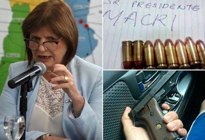 Tras nueva amenaza a Macri, Bullrich advierte sobre un