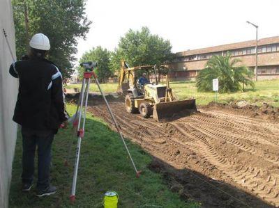 Se realizan obras de pavimento en barrio Anteo Gasparri