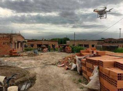 Con drones, la Nación chequea el avance de obras de vivienda