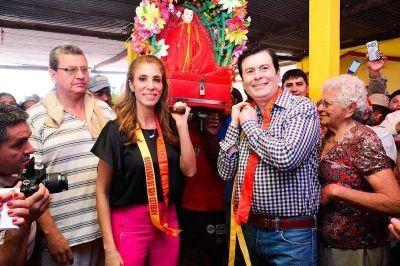 La Gobernadora inauguró viviendas sociales, una ruta y participó de la festividad de San Esteban
