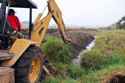Continúan acciones de desobstrucción de desagües