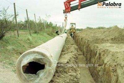 Comenzó la obra de rebombeo del acueducto Villalonga- Stroeder