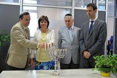 La DAIA encendió la tercera vela de Januká junto a la ministro Patricia Bullrich