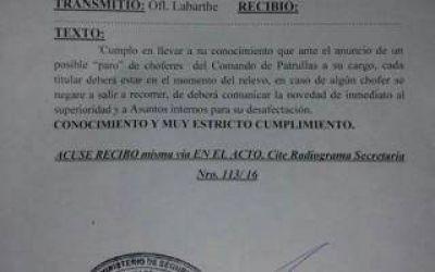 Paro de policías: Desde la Bonaerense advierten que desafectarán a los efectivos que adhieran a la medida