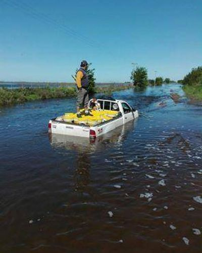 La lluvia complica zonas del distrito de General Villegas: 180 milímetros en Santa Regina