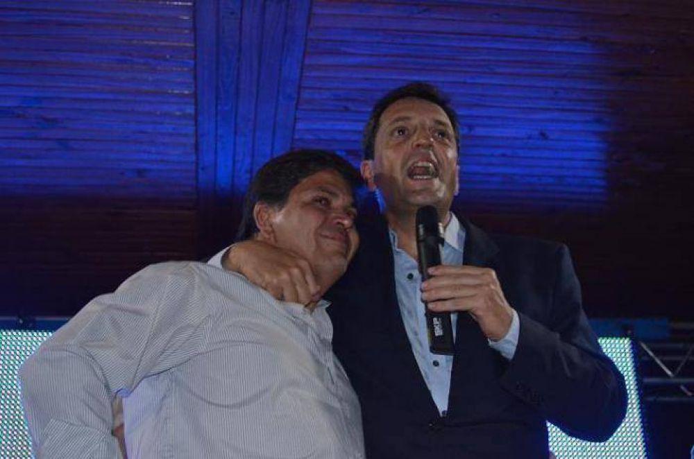 Sergio Massa visitó Tapalqué y lanzó la candidatura de Guillermo Díaz