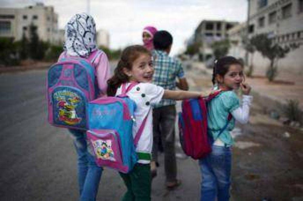 Escuelas de Alepo reabren sus puertas