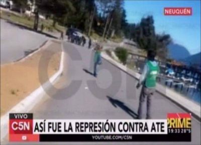 Así fue la represión a ATE tras el ataque a la camioneta de Macri