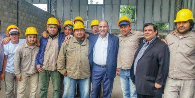 "Manzur supervisó las obras del polo productivo ""Argentina Trabaja"" en Lules"