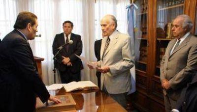 Guillermo De Sanctis asumió en la Corte de Justicia