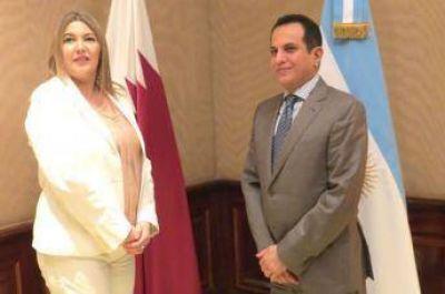 La Gobernadora de la Provincia de Rio Negro se reunió con el embajador de Qatar