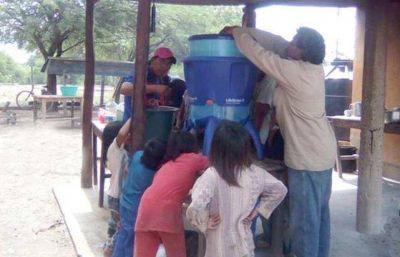 Entregaron filtros de agua en San Patricio