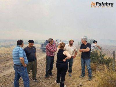 Nuevos incendios en Patagones: Zara recorrió las zonas afectadas