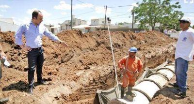 Obras de desagües clave para la ciudad