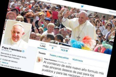 La cuenta twitter del Papa inicia el 2017 con 32 millones de seguidores