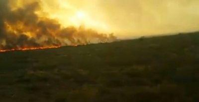 Incendio en La Pampa: se quemaron 300 mil hectáreas