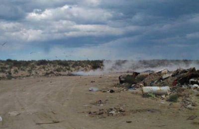 Rawson: queman basura