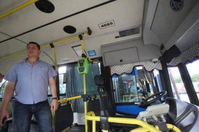 Ya circulan 40 micros en La Plata con las cámaras de seguridad