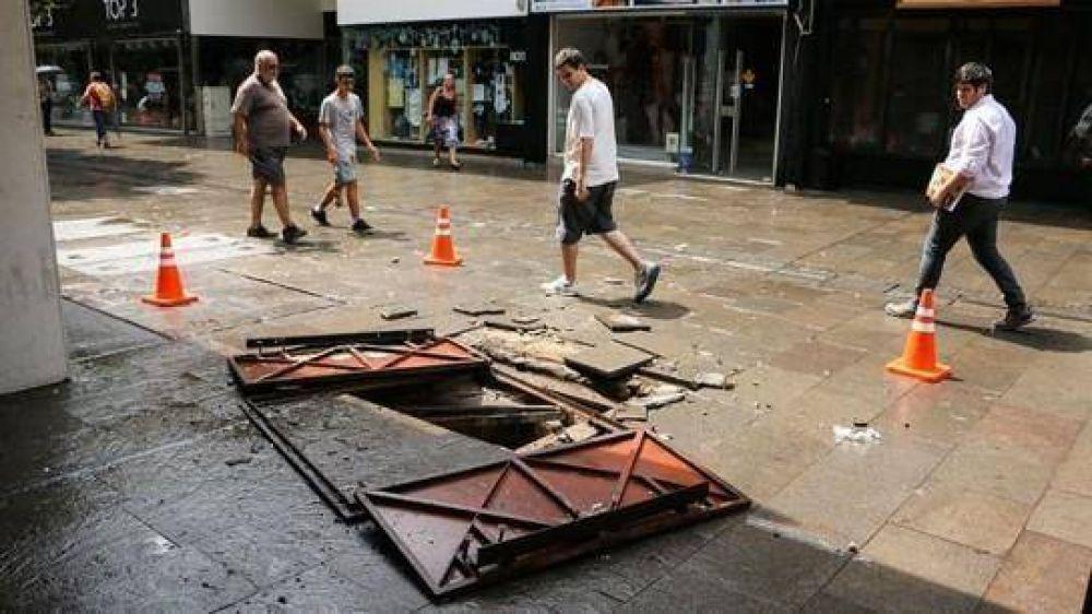 Después de la tormenta, numerosos cortes de luz en la ciudad