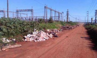 Ciudad turística: en plena temporada,  Posadas desborda de basura