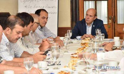 Canteros reunió a grupo de empresarios locales para planificar el desarrollo