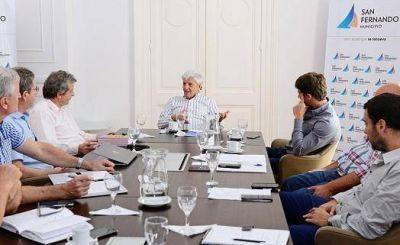 Luis Andreotti recibió a autoridades de EDENOR en San Fernando