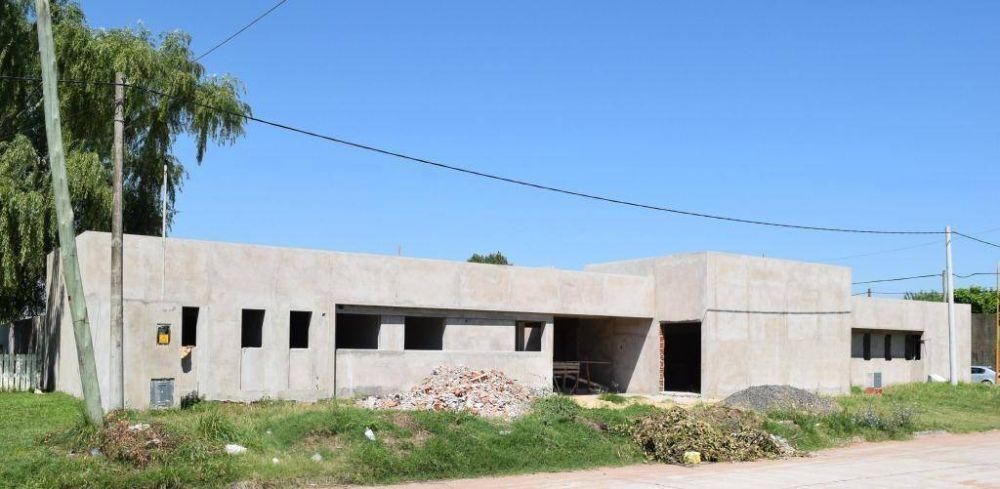 Salomón y Fasano recorrieron la obra del edificio del CEDIS