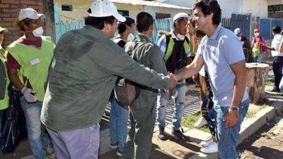 Urtubey recorrió Orán, ciudad afectada por el temporal del lunes