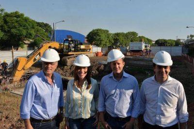 Vidal recorrió obras de saneamiento en Lanús y Lomas de Zamora