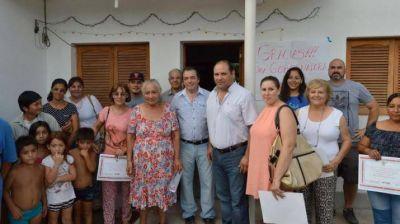 Entregaron viviendas en el barrio de Villa Griselda