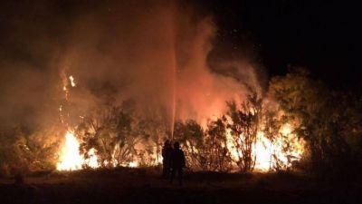 El fuego de La Pampa llegó a la provincia de Buenos Aires