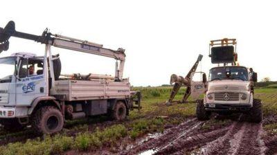 Avanza el operativo de restitución del servicio eléctrico en la provincia