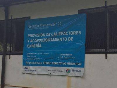 Escobar intensifica su plan de mejoras y arreglos en las escuelas