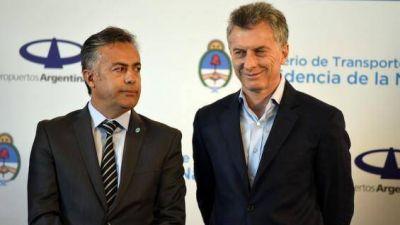 Cornejo espera una mejor distribución de los ingresos también para Mendoza
