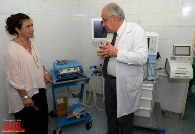 La Ministra de Salud entregó equipamiento e indumentaria en el Iriarte