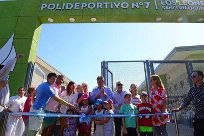Andreotti inauguró el Polideportivo N°7