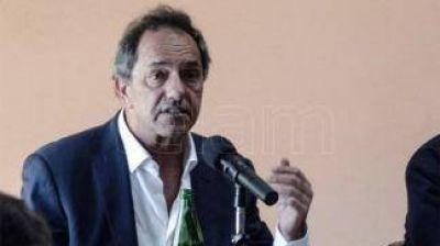 Scioli celebró el envío de fondos a la provincia de Buenos Aires, pero calificó de