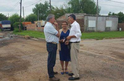 El intendente Rossi continúa recorriendo barrios