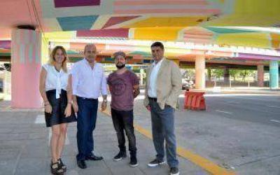 Vicente López: Jorge Macri recorrió el bajo puente de Avenida Libertador