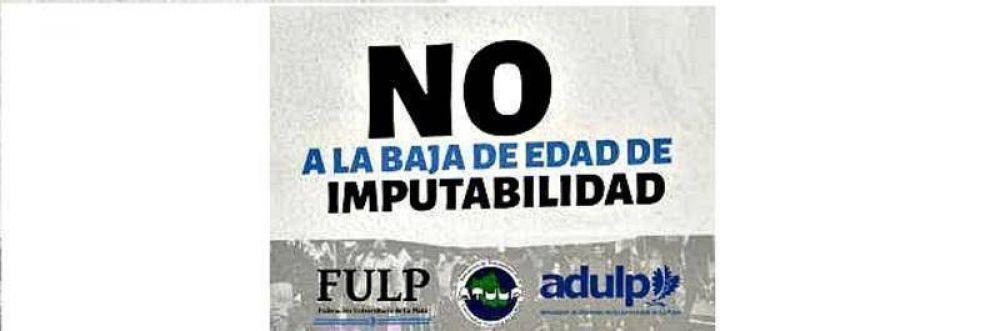 La comunidad universitaria de La Plata se manifestó contra la baja de la imputabilidad