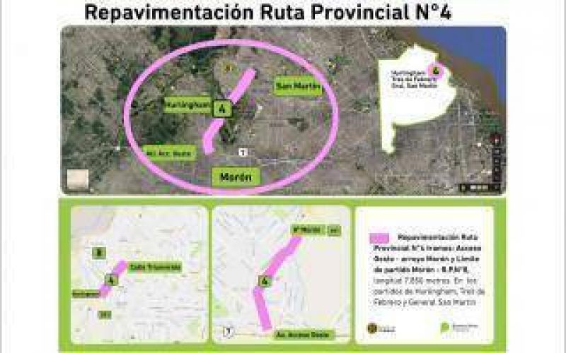 Provincia licitó obras de repavimentación para la Ruta Provincial 4